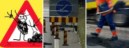 Barnteckningar ska skydda  vägarbetare från fartdårar