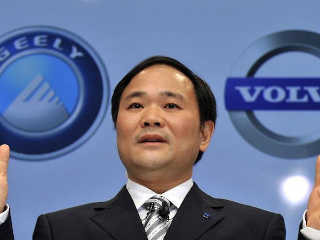 Geelys ägare Li Shufu förfogar nu över Proton och Lotus, Volvo, Geely, taxibilarna i London och det helt nya bilmärket Lynk&Co.