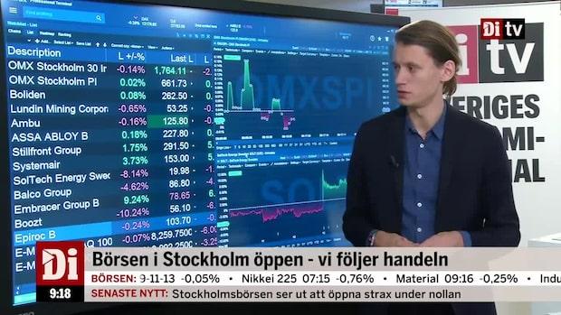"""Alexander Klaar stämmer av börsen: """"Fortsatt ganska försiktigt"""""""