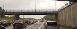 Trafikstockningar i morgontrafiken