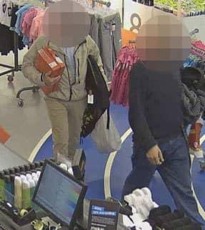 Tjuvarna shoppade loss – och fastnade på övervakningskamerornas bilder. Foto: POLISEN