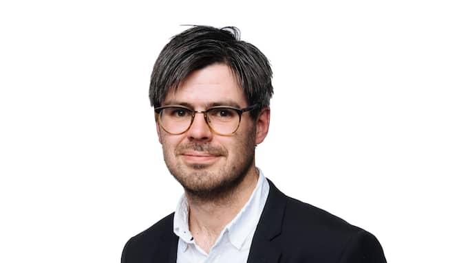 Joel Halldorf, medarbetare på Expressens kultursida och docent i kyrkohistoria. Foto: MIKAEL SJÖBERG