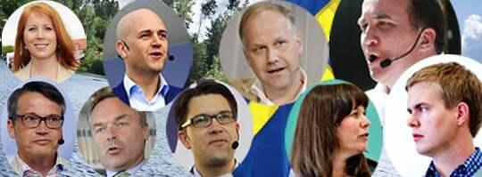 Statsvetarna Malena Rosén Sundström och Jonas Hinnfors analyserar partiledarnas utmaningar inför valrörelsen. Foto: JENS L'ESTRADE