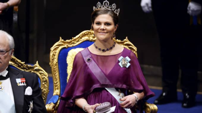 Kronprinsessan Victoria vid Nobelfestligheterna. Foto: Marcus Ericsson/Tt