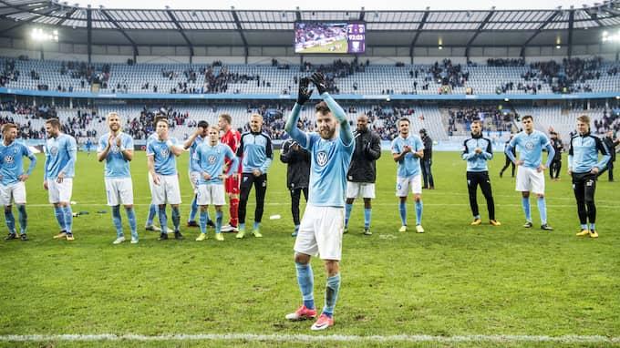 Erdal Rakip och hans MFF jublar på Swedbank stadion. Foto: CHRISTIAN ÖRNBERG / BILDBYRÅN