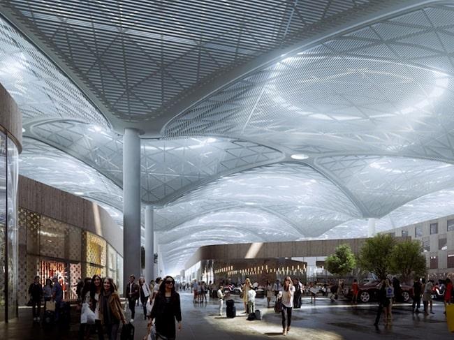 Så nu byggs det för fullt norr om Istanbul där den nya flygplatsen ska ligga.