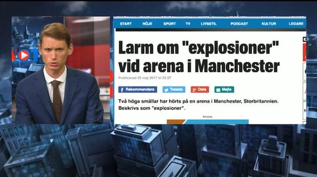 Två höga smällar ska ha hörts vid Manchester arena