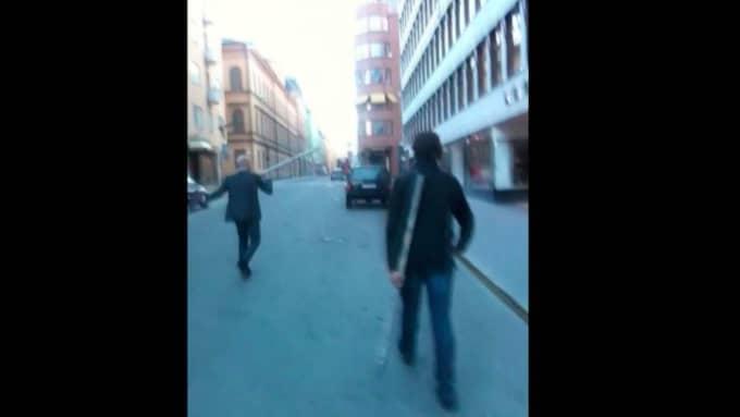 Sverigedemokraternas Kent Ekeroth filmade vad som hände under den så kallade järnrörsskandalen, tillsammans med sina partikollegor Christian Westling och Erik Almqvist.