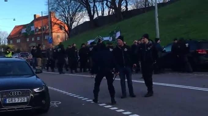 Marschen gick från Liseberg – men tog slut redan i närheten av Korsvägen. Foto: David Josefsson