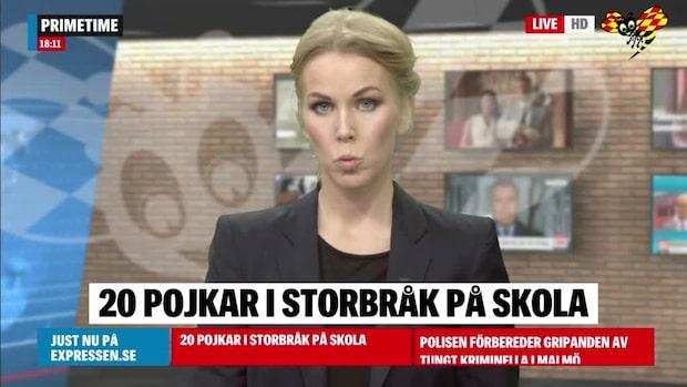 Storbråk på skola i Håbo kommun