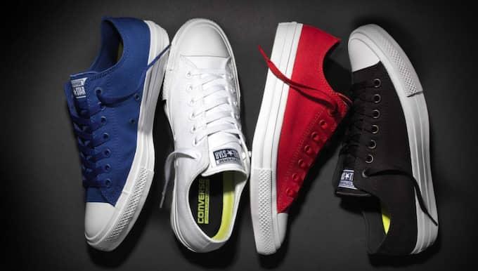 """Ny version av gammal klassiker. den klassiska skomodellen Chuck taylor från Converse lanseras nu i en """"fotriktigare"""" version."""