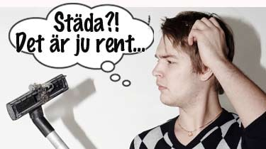 Män hjärnor lämpar sig inte för städning, menar Annika Dahlström.