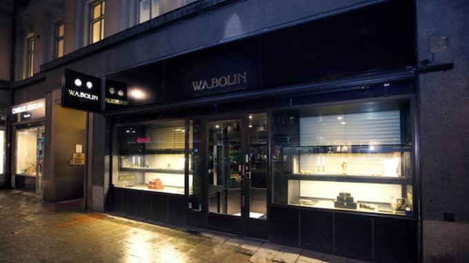 Anrika juveleraren W. A. Bolin har sin butik i två plan – men nu tittar man på att lösa verksamheten på ett plan. Foto: Stefan Söderström