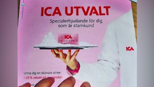 Matilda blev häpen av Icas reklamblad