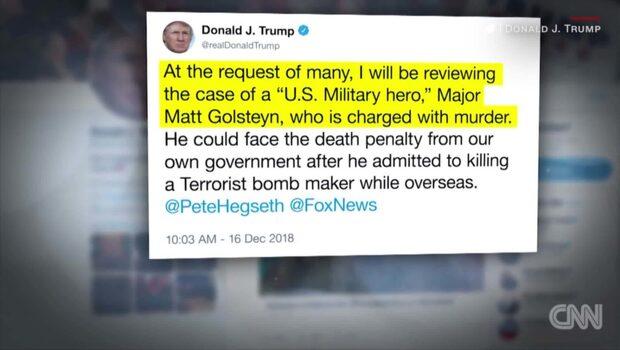 Trump tänker granska mordutredning mot amerikansk soldat