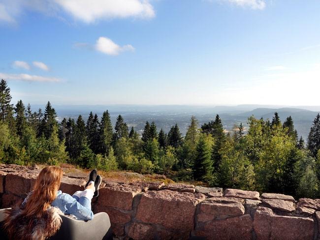 Magisk utsikt från Holmenkollen.