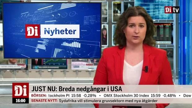 Di Nyheter 16.00: Breda nedgångar i USA - gårdagens kursrusare rekylerar ner