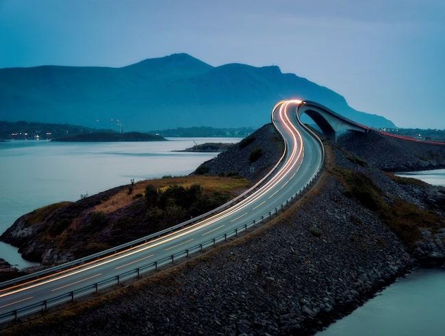 Bron över Storseisundet, Atlantvägen i Norge.