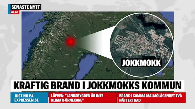 Brand i kraftverk i Jokkmokk – VMA utfärdat