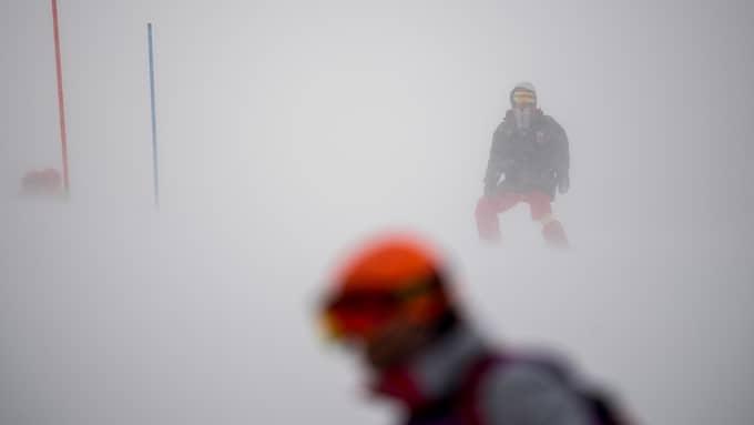 Väderkaos hotar de alpina tävlingarna i OS. Foto: JOEL MARKLUND / BILDBYRÅN