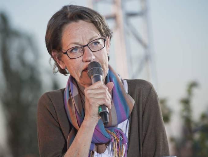 Mot riksdagen. Gudrun Schymans Feministiskt initiativ får 4,4 procent i Expressen och Demoskops nya mätning - vilket skulle gel en riksdagsplats om det vore val nu. Foto: Christian Örnberg