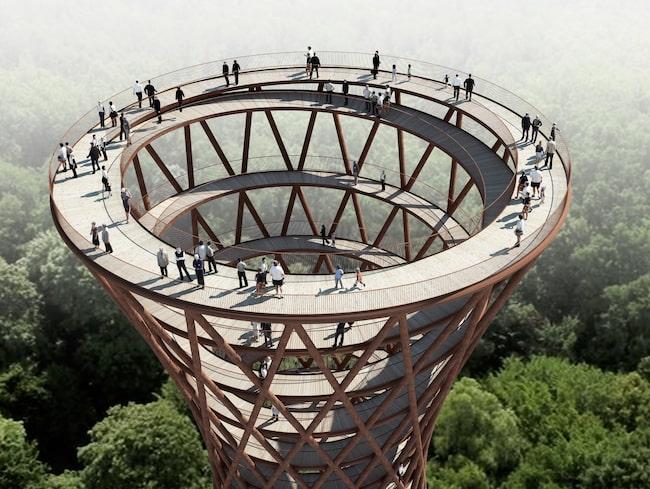 Ett 45 meter högt observationstorn ska bjuda besökarna på en fantastisk utsikt över Danmark.