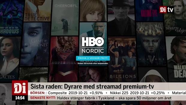 Dyrare med streamad premium-tv - HBO Nordic höjer priset