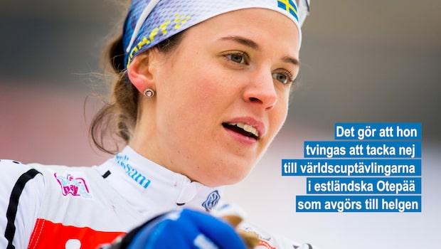 Anna Dyvik missar helgens världscuptävlingar