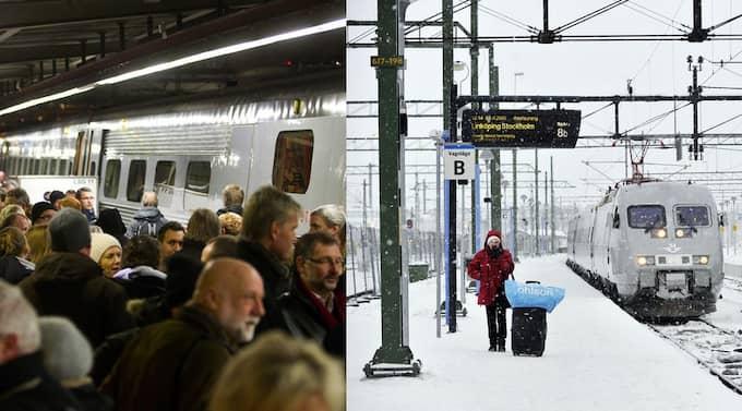 Trots att SJ lovade att vara förberedde efter förra vinterns tågkaos verkar inte mycket ha hänt. Och vinsten går till staten istället för till investeringar. Foto: Lasse Svensson