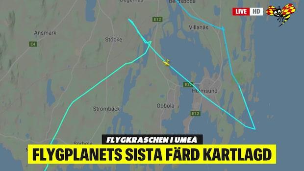 Flygplanets sista färd kartlagd