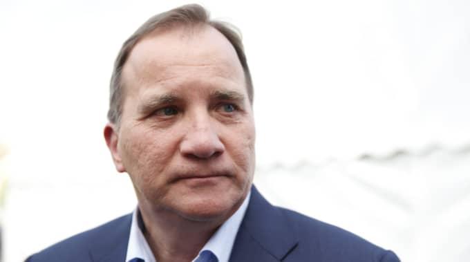 Stefan Löfven på plats i Visby. Foto: Lisa Mattisson