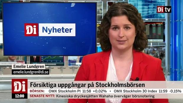 Di Marknadsnytt 12.00: Börsen i sidled, SBB stiger på norsk affär