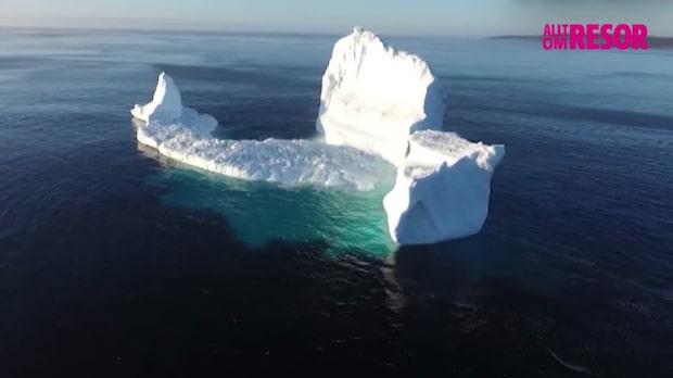 Isberg ställer till med trafikstockning