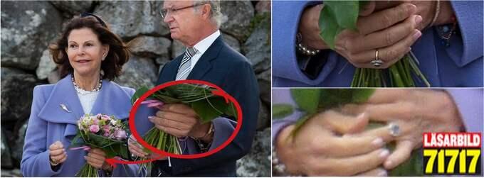 Drottningens kala vänsterhand under besöket i Nykvarn vållade plötsligt frågetecken.
