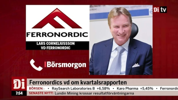 Ferronordics vd om bolagets fjärde kvartal