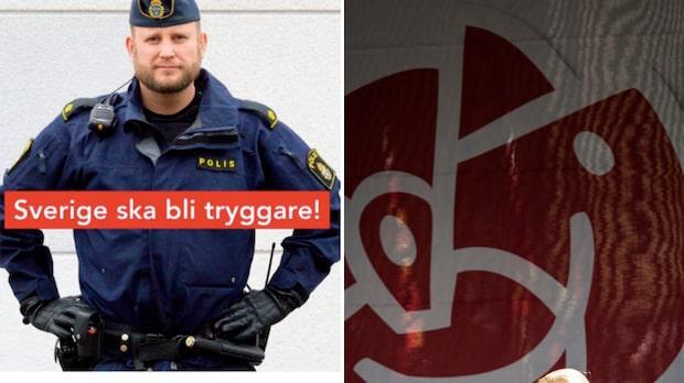 Socialdemokraterna använde polisen Daniel i kampanj