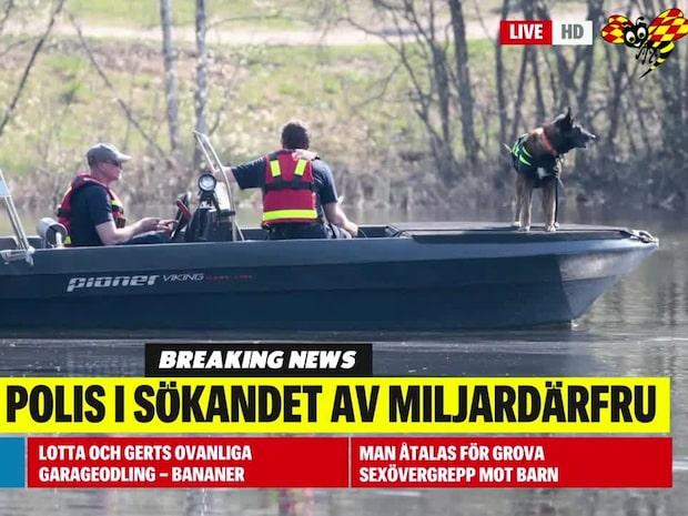 Svensk polis hjälper till i sökandet efter norska miljardärsfrun