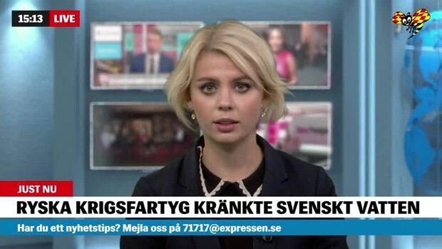 Två ryska krigsfartyg kränkte Sverige vid Vinga
