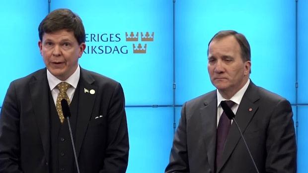 Talmannens besked: Föreslår Stefan Löfven som statsminister