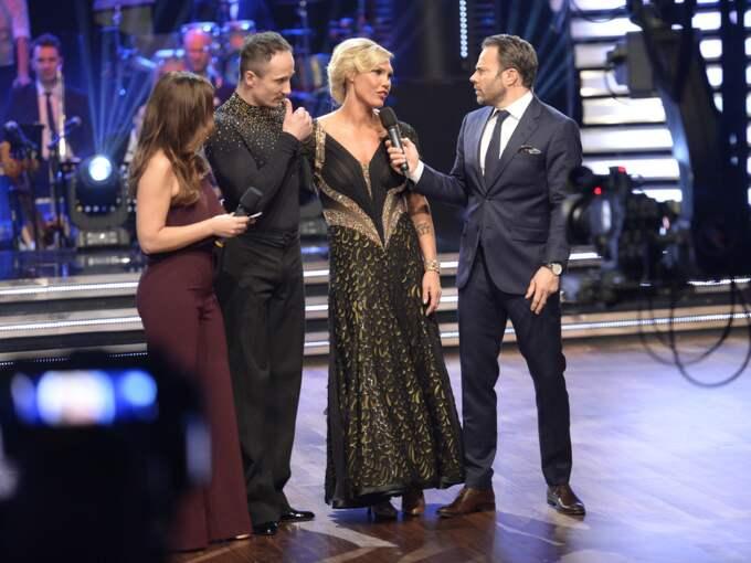 """Det blev boxaren Mikaela Laurén som fick lämna """"Let's dance"""" först av alla. Foto: / OLLE SPORRONG EXP"""