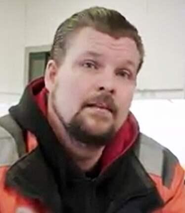Lastbilschauffören och transportmedlemmen Andreas Kedborn medverkar också i valfilmen. Foto: LO