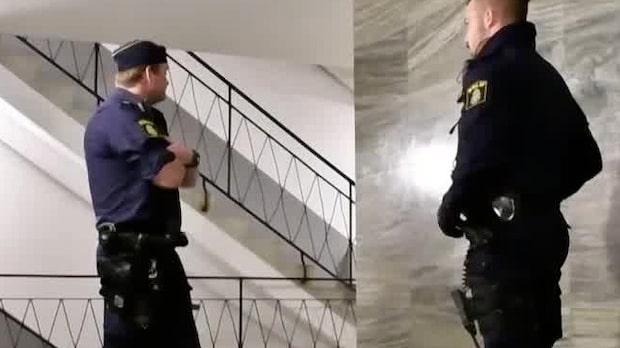 Skott avlossade in genom lägenhetsdörr i Malmö