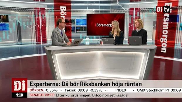 Experterna: Då bör Riksbanken höja räntan