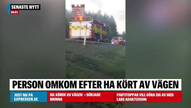 Bil körde av vägen – föraren död