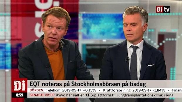 EQT noteras på Stockholmsbörsen på tisdag