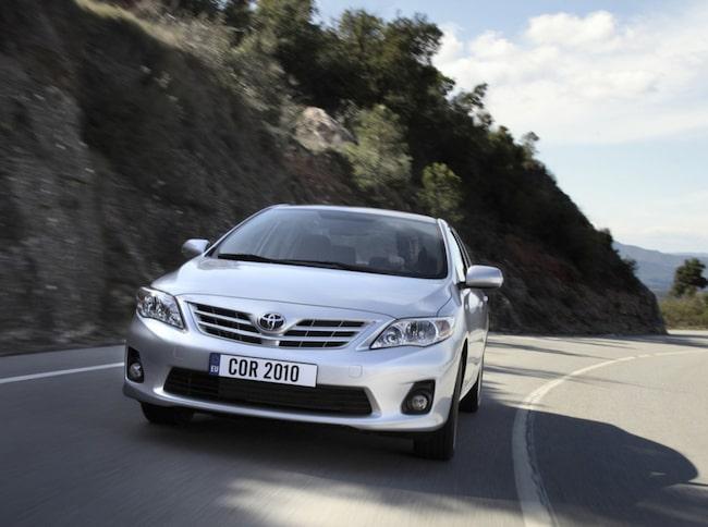 Toyota Corolla är en av de absolut vanligaste hyrbilarna.