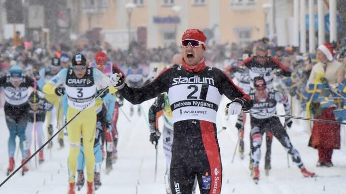 Andreas Nygaard vann Vasaloppet 2018. Foto: ULF PALM/ TT / TT NYHETSBYRÅN