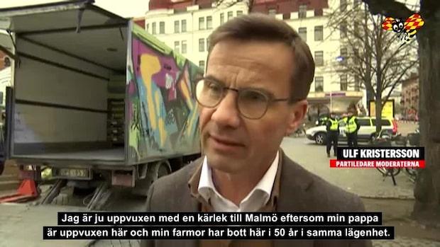 """Politikerna på plats i Malmö efter våldsvågen: """"Polisen i Malmö är oerhört professionell"""""""