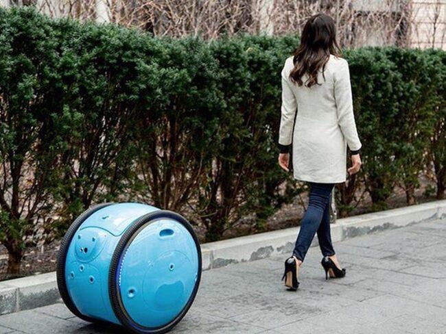 """Glöm svettigt kånkande på tunga resväskor – """"Gita"""" följer dig som en hund."""