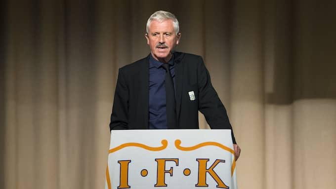 Blåvitts ordförande Frank Andersson har meddelat att han inte ställer upp för omval vid nästa årsmöte. Foto: DANIEL STILLER / BILDBYRÅN